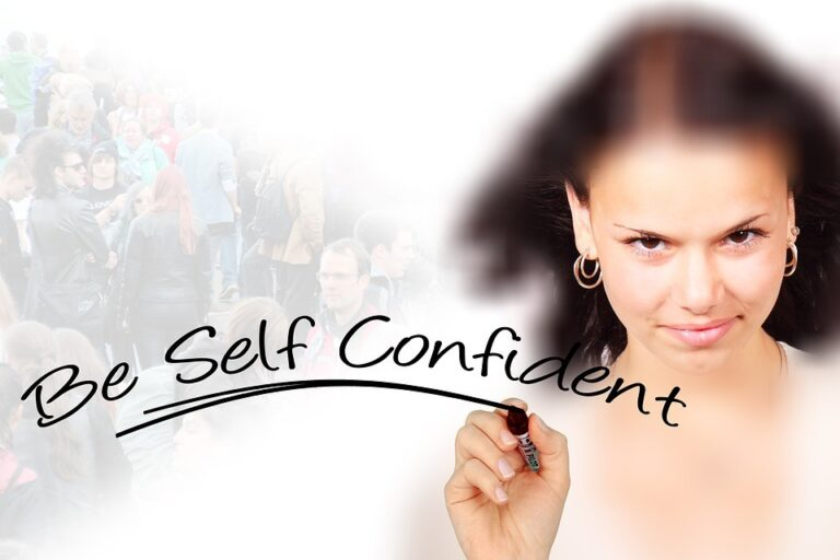 a woman who has self confidence