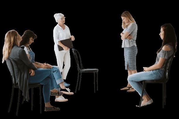 women receiving counseling